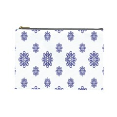 Snow Blue White Cool Cosmetic Bag (large)  by Alisyart