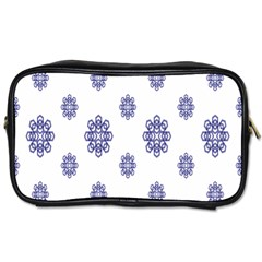 Snow Blue White Cool Toiletries Bags 2 Side by Alisyart