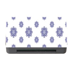 Snow Blue White Cool Memory Card Reader With Cf by Alisyart