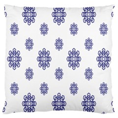 Snow Blue White Cool Large Cushion Case (two Sides) by Alisyart