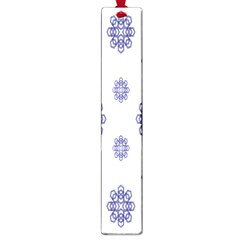Snow Blue White Cool Large Book Marks by Alisyart