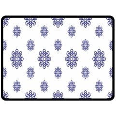 Snow Blue White Cool Double Sided Fleece Blanket (large)  by Alisyart