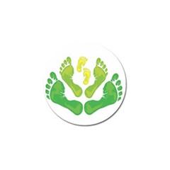 Soles Feet Green Yellow Family Golf Ball Marker (10 Pack)