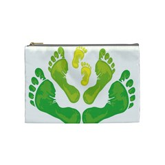 Soles Feet Green Yellow Family Cosmetic Bag (medium)  by Alisyart