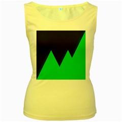 Soaring Mountains Nexus Black Green Women s Yellow Tank Top