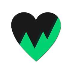 Soaring Mountains Nexus Black Green Heart Magnet by Alisyart