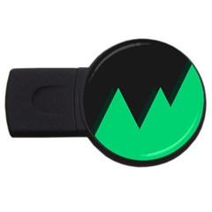 Soaring Mountains Nexus Black Green Usb Flash Drive Round (2 Gb) by Alisyart