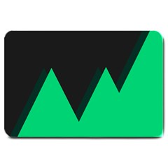 Soaring Mountains Nexus Black Green Large Doormat  by Alisyart
