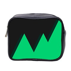 Soaring Mountains Nexus Black Green Mini Toiletries Bag 2 Side by Alisyart