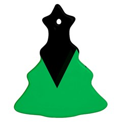 Soaring Mountains Nexus Black Green Christmas Tree Ornament (two Sides) by Alisyart