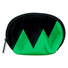 Soaring Mountains Nexus Black Green Accessory Pouches (medium)  by Alisyart