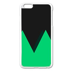 Soaring Mountains Nexus Black Green Apple Iphone 6 Plus/6s Plus Enamel White Case by Alisyart