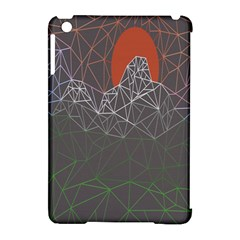 Sun Line Lighs Nets Green Orange Geometric Mountains Apple Ipad Mini Hardshell Case (compatible With Smart Cover) by Alisyart