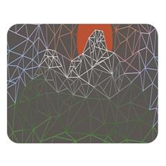 Sun Line Lighs Nets Green Orange Geometric Mountains Double Sided Flano Blanket (large)  by Alisyart