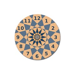 Stellated Regular Dodecagons Center Clock Face Number Star Magnet 3  (round) by Alisyart