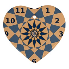 Stellated Regular Dodecagons Center Clock Face Number Star Heart Ornament (two Sides) by Alisyart