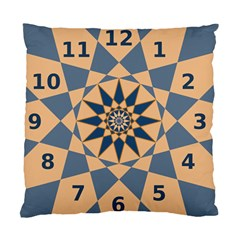 Stellated Regular Dodecagons Center Clock Face Number Star Standard Cushion Case (one Side) by Alisyart