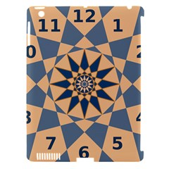 Stellated Regular Dodecagons Center Clock Face Number Star Apple Ipad 3/4 Hardshell Case (compatible With Smart Cover) by Alisyart