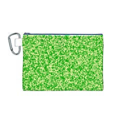 Specktre Triangle Green Canvas Cosmetic Bag (m) by Alisyart