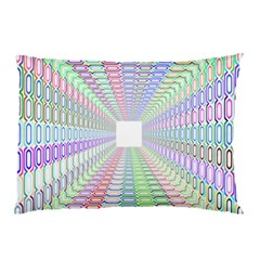 Tunnel With Bright Colors Rainbow Plaid Love Heart Triangle Pillow Case by Alisyart
