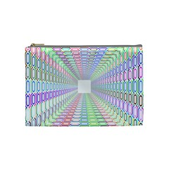 Tunnel With Bright Colors Rainbow Plaid Love Heart Triangle Cosmetic Bag (medium)  by Alisyart