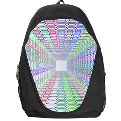 Tunnel With Bright Colors Rainbow Plaid Love Heart Triangle Backpack Bag by Alisyart