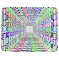 Tunnel With Bright Colors Rainbow Plaid Love Heart Triangle Jigsaw Puzzle Photo Stand (rectangular) by Alisyart