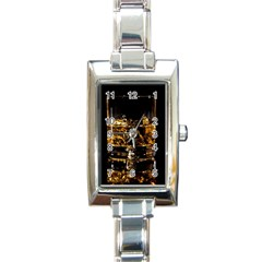 Drink Good Whiskey Rectangle Italian Charm Watch by Onesevenart