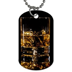 Drink Good Whiskey Dog Tag (one Side) by Onesevenart