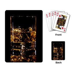 Drink Good Whiskey Playing Card by Onesevenart