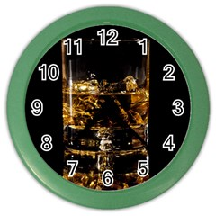 Drink Good Whiskey Color Wall Clocks by Onesevenart