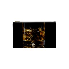 Drink Good Whiskey Cosmetic Bag (small)  by Onesevenart