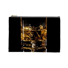 Drink Good Whiskey Cosmetic Bag (large)  by Onesevenart