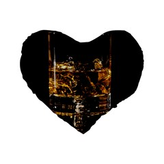 Drink Good Whiskey Standard 16  Premium Heart Shape Cushions by Onesevenart