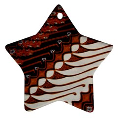 Traditional Batik Sarong Star Ornament (two Sides) by Onesevenart