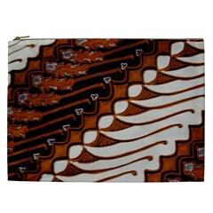 Traditional Batik Sarong Cosmetic Bag (xxl)  by Onesevenart