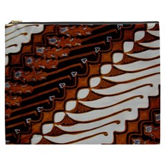 Traditional Batik Sarong Cosmetic Bag (xxxl)  by Onesevenart