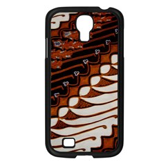 Traditional Batik Sarong Samsung Galaxy S4 I9500/ I9505 Case (black) by Onesevenart