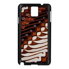 Traditional Batik Sarong Samsung Galaxy Note 3 N9005 Case (black) by Onesevenart