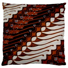 Traditional Batik Sarong Standard Flano Cushion Case (one Side) by Onesevenart