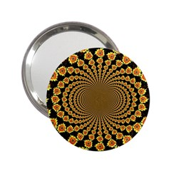 Psychedelic Sunflower 2 25  Handbag Mirrors by Photozrus