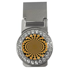 Psychedelic Sunflower Money Clips (cz)  by Photozrus