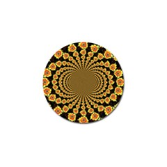 Psychedelic Sunflower Golf Ball Marker (4 Pack) by Photozrus