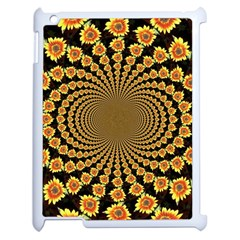 Psychedelic Sunflower Apple Ipad 2 Case (white) by Photozrus