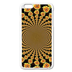 Psychedelic Sunflower Apple Iphone 6 Plus/6s Plus Enamel White Case by Photozrus