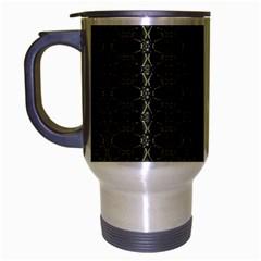Dark Interlace Tribal  Travel Mug (silver Gray) by dflcprints