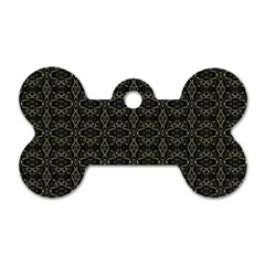 Dark Interlace Tribal  Dog Tag Bone (one Side) by dflcprints