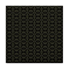 Dark Interlace Tribal  Face Towel by dflcprints