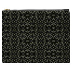 Dark Interlace Tribal  Cosmetic Bag (xxxl)  by dflcprints