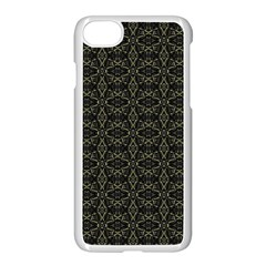 Dark Interlace Tribal  Apple Iphone 7 Seamless Case (white) by dflcprints